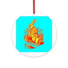 White Rabbit Ornament (Round)