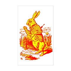 White Rabbit Rectangle Decal
