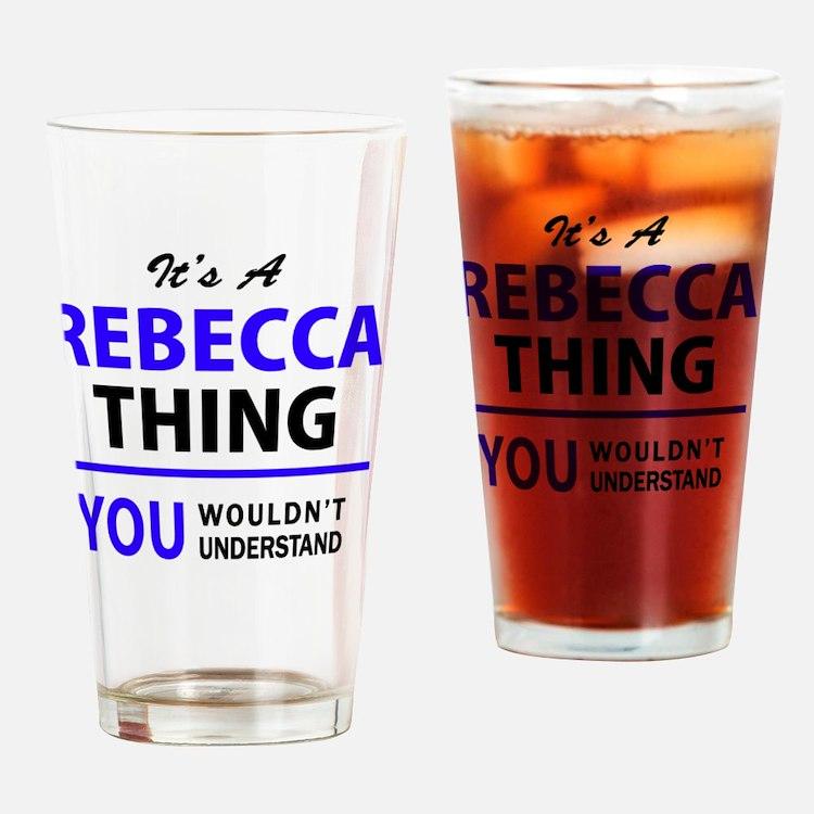 Cute Rebecca Drinking Glass