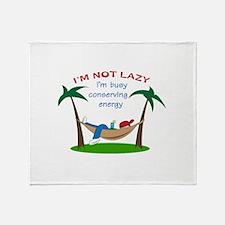 IM NOT LAZY Throw Blanket