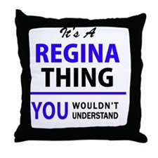 Cute Regina Throw Pillow