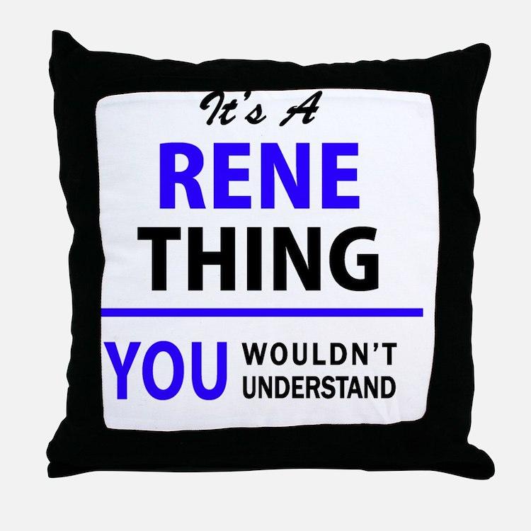 Cute Rene Throw Pillow