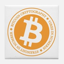 Type 1 Bitcoin Logo Tile Coaster