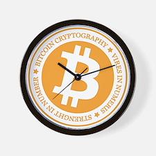 Type 1 Bitcoin Logo Wall Clock