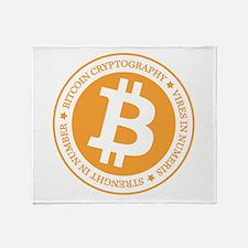 Type 1 Bitcoin Logo Throw Blanket