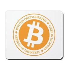 Type 1 Bitcoin Logo Mousepad