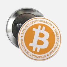 "Type 1 Bitcoin Logo 2.25"" Button (10 pack)"