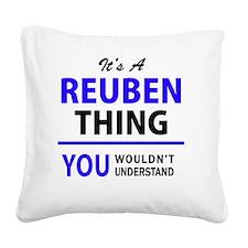 Cute Reuben Square Canvas Pillow