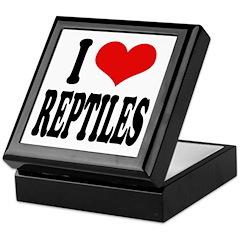 I Love Reptiles Keepsake Box