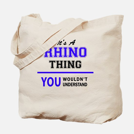 Cute Rhino Tote Bag