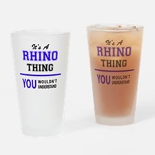 Cute Rhino Drinking Glass