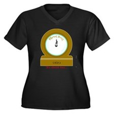 Molly's Clock Women's Plus Size V-Neck Dark T-Shir
