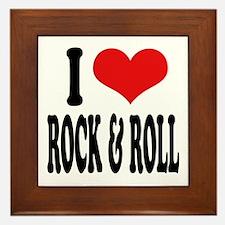 I Love Rock & Roll Framed Tile