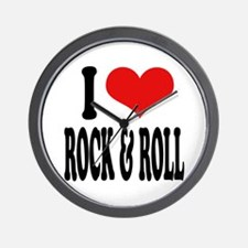 I Love Rock & Roll Wall Clock
