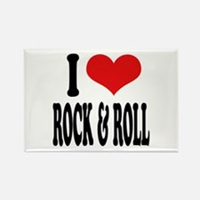 I Love Rock & Roll Rectangle Magnet