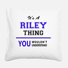 Cute Riley Square Canvas Pillow