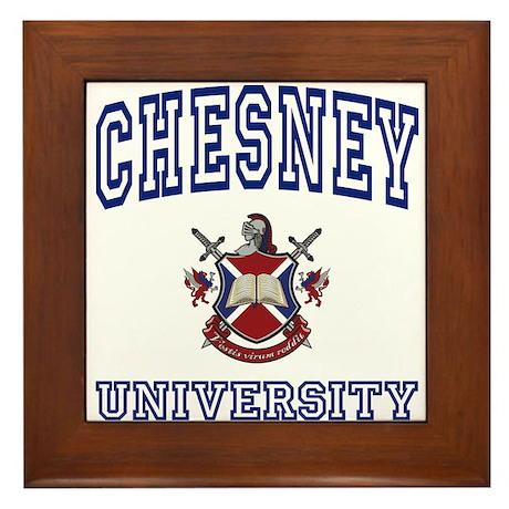 CHESNEY University Framed Tile