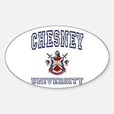 CHESNEY University Oval Decal
