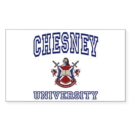 CHESNEY University Rectangle Sticker