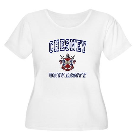 CHESNEY University Women's Plus Size Scoop Neck T-