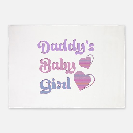 Daddy's Baby Girl 5'x7'Area Rug