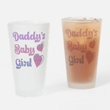 Daddy's Baby Girl Drinking Glass