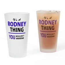 Cute Rodney Drinking Glass
