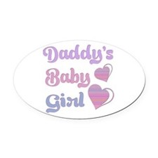Daddy's Baby Girl Oval Car Magnet
