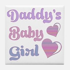 Daddy's Baby Girl Tile Coaster