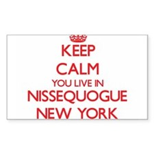 Keep calm you live in Nissequogue New York Decal