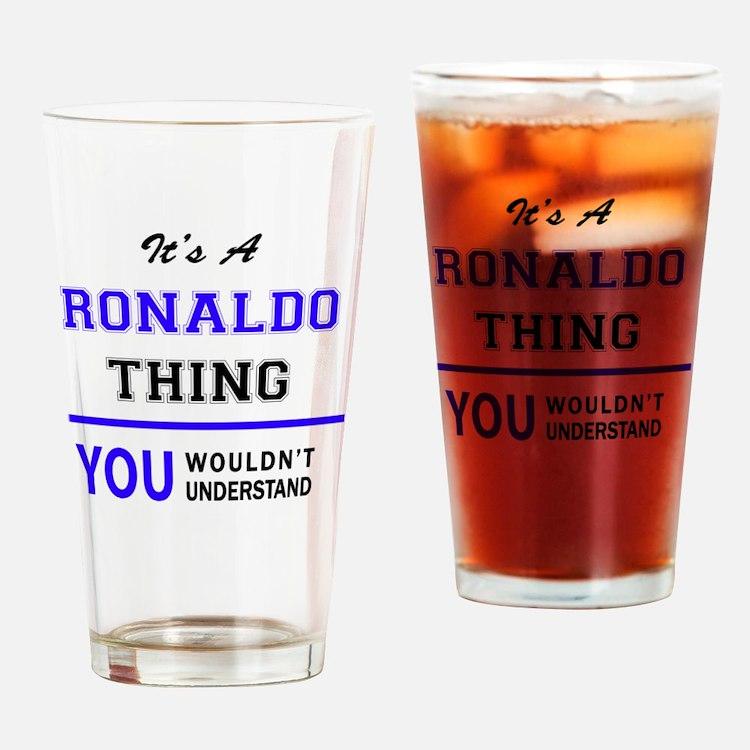 Cute Ronaldo Drinking Glass