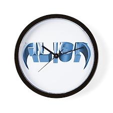 """""""Alien"""" Blue Steel Wall Clock"""