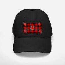 Red tartan and lion rampant design_b Baseball Hat