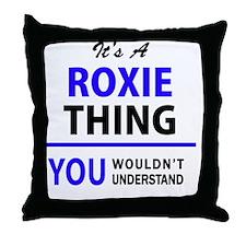 Unique Roxy Throw Pillow