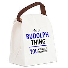 Cute Rudolph Canvas Lunch Bag