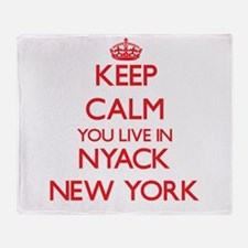 Keep calm you live in Nyack New York Throw Blanket