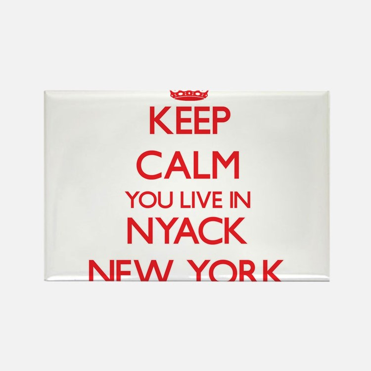 Keep calm you live in Nyack New York Magnets