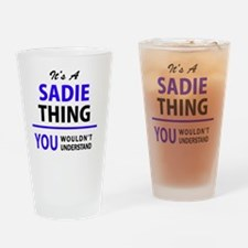 Cute Sadie Drinking Glass