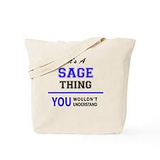 Cool Sage Tote Bag