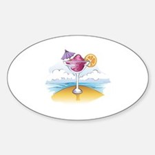 FOZEN DRINK ON THE BEACH Decal
