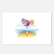 FOZEN DRINK ON THE BEACH Postcards (Package of 8)