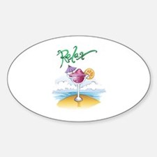 RELAX ON THE BEACH Decal