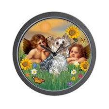 Angels & Yorkshire Terrier Wall Clock