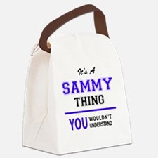 Funny Sammy Canvas Lunch Bag