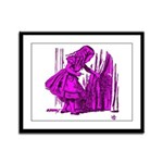 Behind the Curtain Framed Panel Print