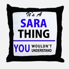 Unique Sara Throw Pillow