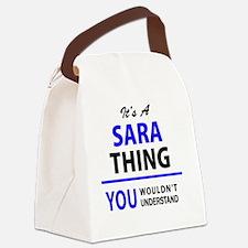 Funny Sara Canvas Lunch Bag