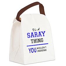 Unique Sarai Canvas Lunch Bag