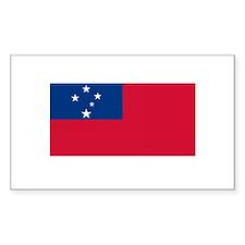 Somoan Flag Samoa Rectangle Decal