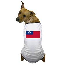 Somoan Flag Samoa Dog T-Shirt